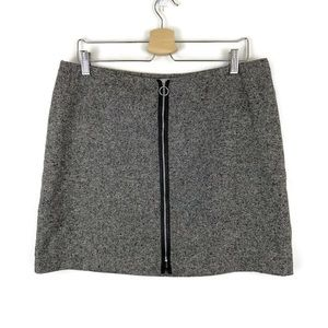 NWT Old Navy Zipper Front Recycled Wool Mini Skirt